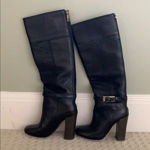 Black knee high Tory Burch Boots Size 7M